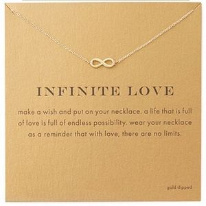 fancy fashions Jewelry - Gold Infinity necklace